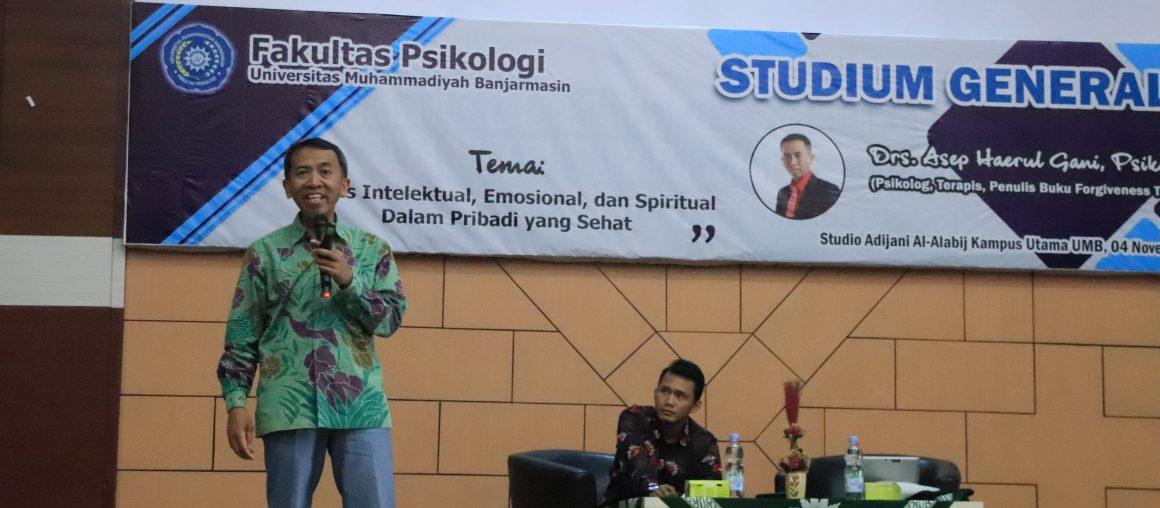"""Studium Generale 2019 Psikologi UMB: """"Cerdas Intelektual, Emosional dan Spiritual dalam Pribadi yang Sehat"""""""