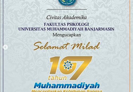 Selamat Milad Ke 107 Muhammadiyah