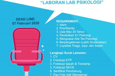 Lowongan Kerja Laboran Laboratorium Fakultas Psikologi UM Banjarmasin