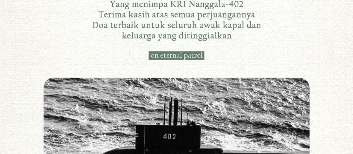 Turut Berduka Cita Atas Tenggelamnya KRI Nanggala 402