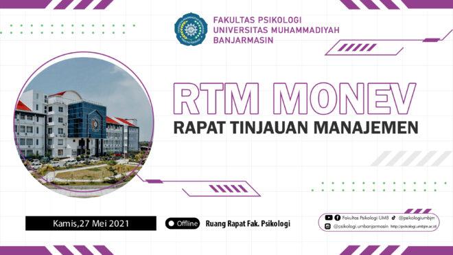 Rapat Tinjauan Manajemen (RTM) Monev Prodi Psikologi UM Banjarmasin